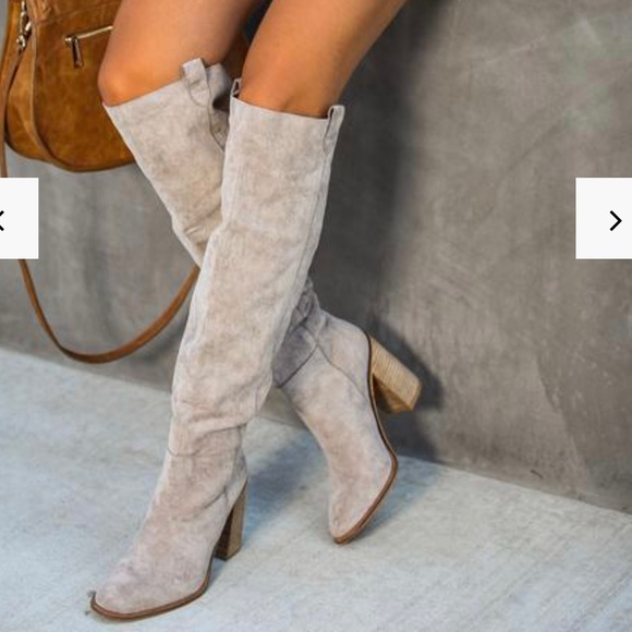 Vici Shoes | Saint Slouch Boot Grey